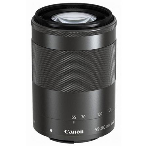 Canon EF-M 55-200mm f/4.5-6.3 IS STM Lens, Black with Premium Accessory Bundle 9517B002 B