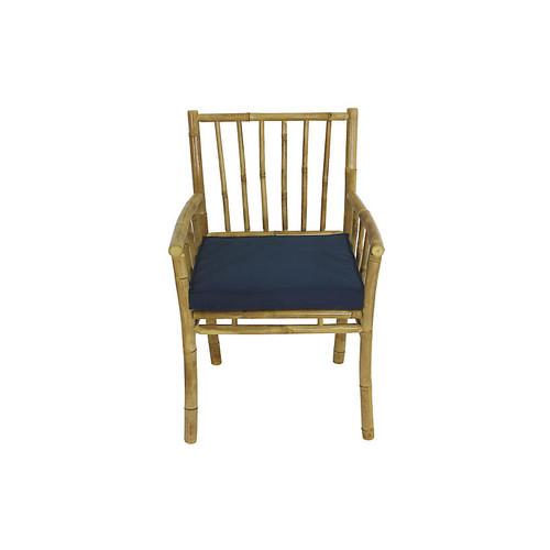 Bamba Armchair, Natural/Navy