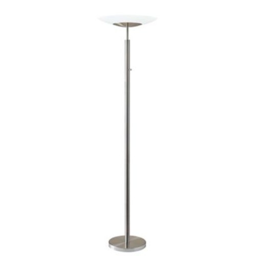 Adesso Stellar LED Torchiere, Brushed Steel (5127-22)