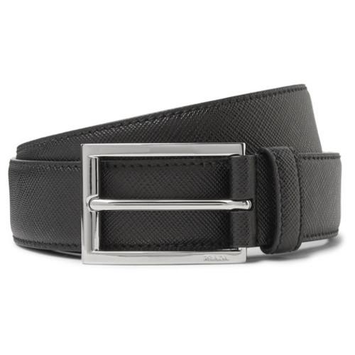 Prada - 3cm Black Saffiano Leather Belt