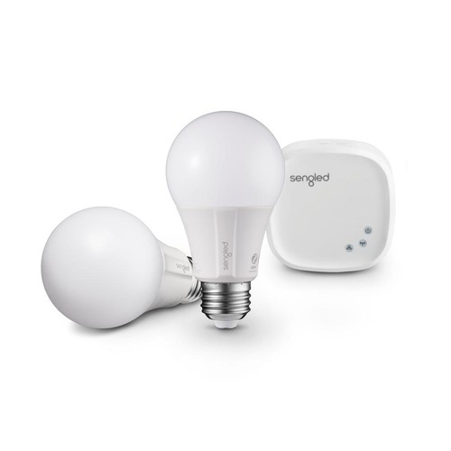 Sengled Element Classic Smart Lighting Starter Kit with Smart Hub and 2 A19 2700K 60W EQ Dimmable LED Bulbs, White