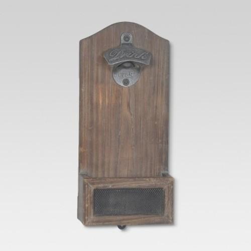 Vintage Wood Wall Mounted Bottle Opener - Threshold