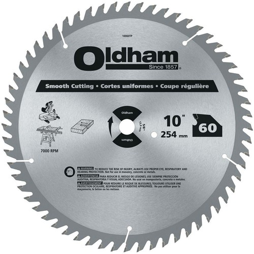 ham 10 in. 60-Tooth Industrial Carbide Finishing Saw Blade