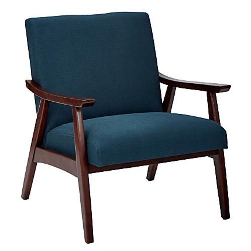 Ave Six Davis Chair, Klein Azure/Medium Espresso