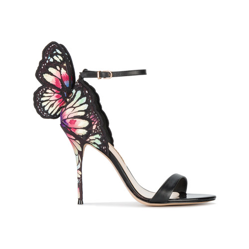 Black Chiara butterfly 115 sandals