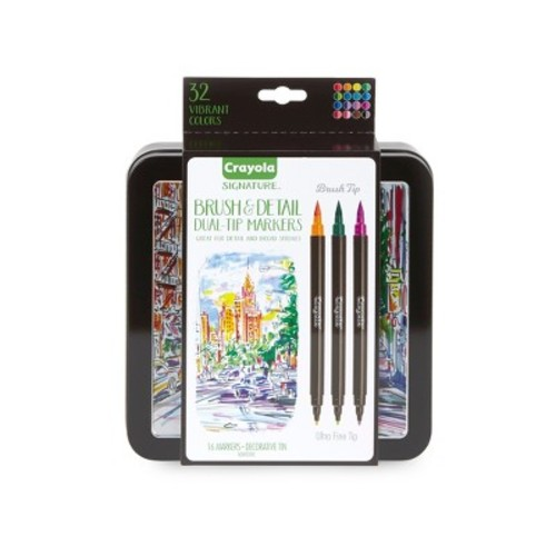 Crayola Signature 16ct Dual-Tip & Brush Markers