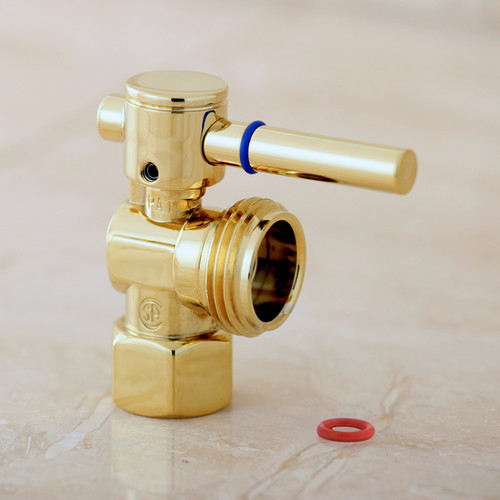 Hose Washing Machine Valve Polished Brass 1/2-inch IPS x 3/4-inch Outlet