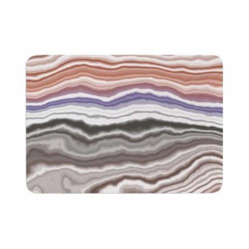 East Urban Home Iris Lake Bed Geological Abstract Memory Foam Bath Rug; 0.5'' H x 24'' W x 36'' D