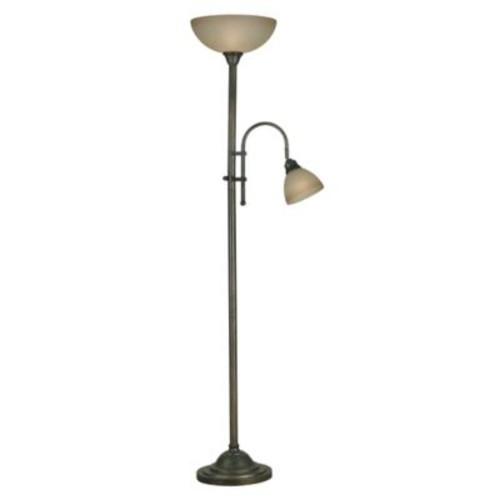 Kenroy Home Callahan 2-Light Torchiere in Bronze