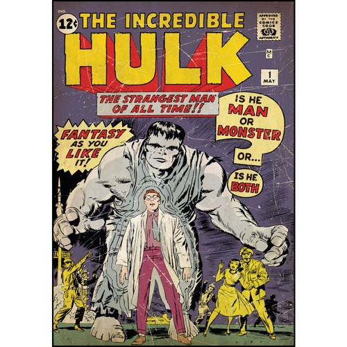 RoomMates Incredible Hulk Issue #1 Comic Cover Peel and Stick Giant Wall Decal; 27
