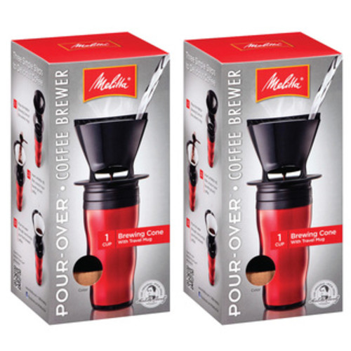 Melitta Ready Set Joe Black Single-cup Pour-over Coffee Brewer (Set of 8)