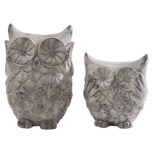 Sunjoy Owl Set Garden Statues