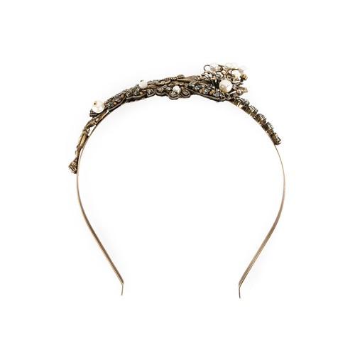 stone embellished twisted tiara