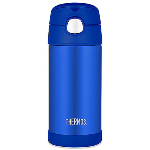 Thermos 12 oz. Stainless Steel Straw Bottle in Blue