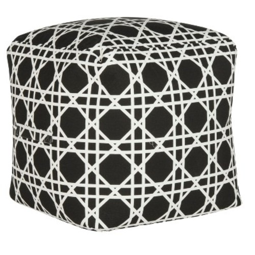 Ottomans Black White - Safavieh