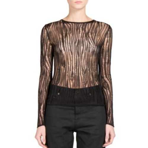 SAINT LAURENT Destroyed Ribbed Knit