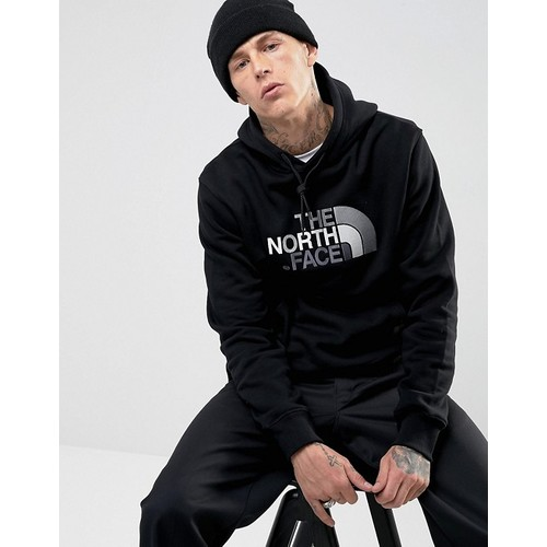 The North Face Drew Peak Hoodie Large Logo in Black