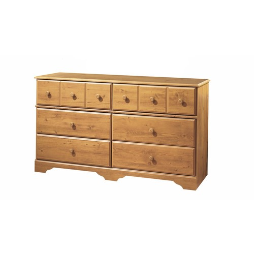 South Shore Little Treasures 6-Drawer Dresser in Country Pine