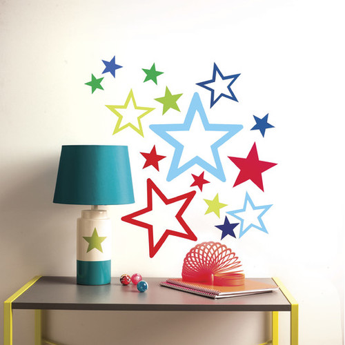 Peel and Stick Stars in Stars Wall Decal