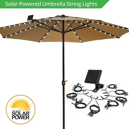 Umbrella Solar String Lights