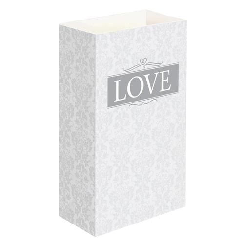 LumaBase 48424 24 Count Love Luminaria Bags