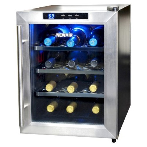 air NewAir AW-121E 12 Bottle Thermoelectric Wine Cooler NAIAW121E