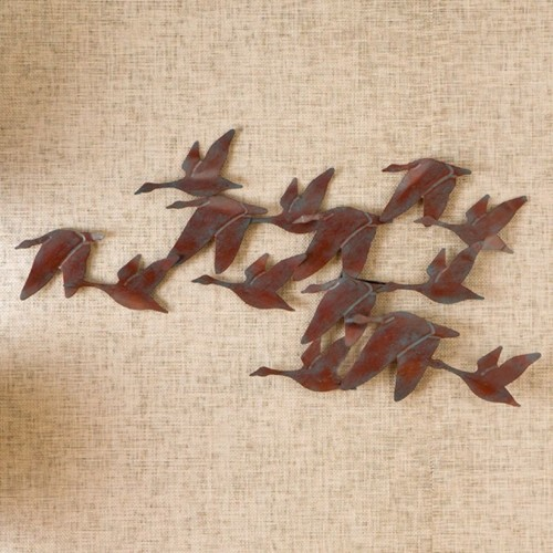 SEI Metal Wall Art, Flock Of Geese