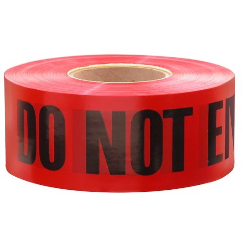 Empire Level 11-081 Barricade DANGER-DO NOT ENTER Tape, Red with Black Ink, 1000-Feet by 3-Inch