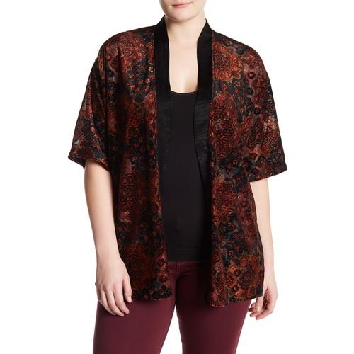 Velvet Burnout Kimono (Plus Size)