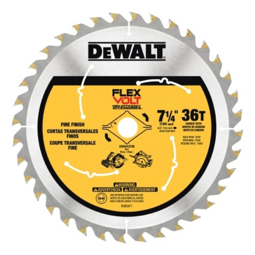 DeWalt Flexvolt 7-1/4 in. Dia. 36 teeth Carbide Tip Steel Circular Saw Blade For Fine Tooth Fini