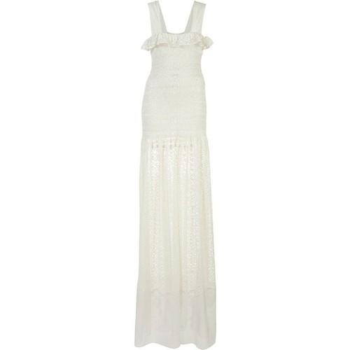 STELLA MCCARTNEY Sleeveless Smocked Lace Gown