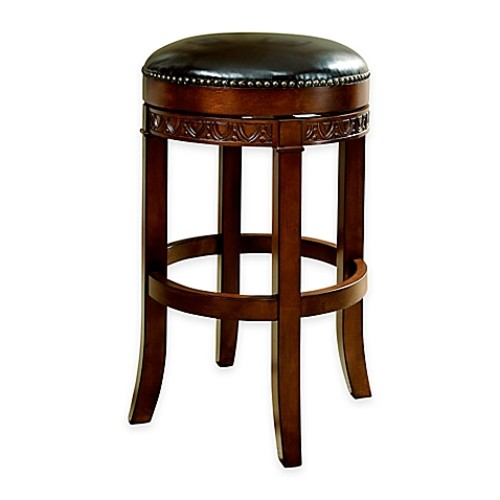American Heritage Portofino Backless Bar Stool in Brown