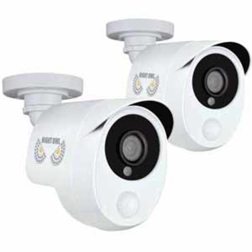 Night Owl 2 Pack Add?On 1080p Wired HD Analog Security Cameras with Heat Based Motion Detection : CAM-2PK-PIRHDA10W-BU