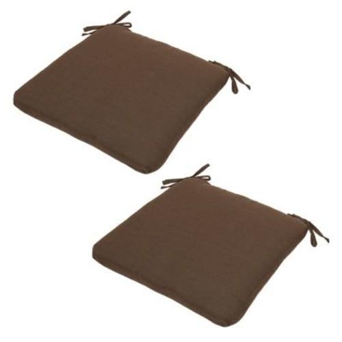 Plantation Patterns Espresso Texture Seat Pad 2-piece Set