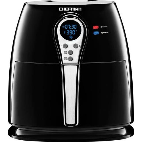Chefman - Air Fryer - Black/Stainless Steel
