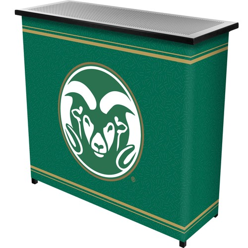 Trademark Global Colorado State 2 Shelf Portable Bar With Case