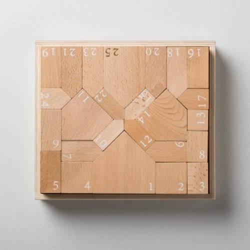 Wooden Toy Block Advent Calendar Set - Hearth & Hand with Magnolia