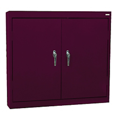 Sandusky Solid-Door Wall Cabinet, Burgundy