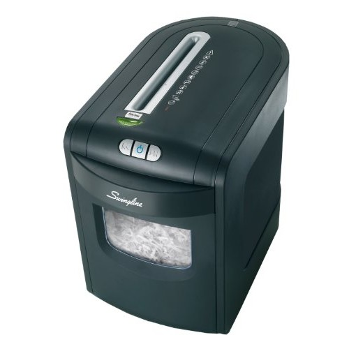 Swingline Paper Shredder, Jam Free, 10 Sheet Capacity, Cross-Cut, 1-2 Users, EX10-06 (1757392)