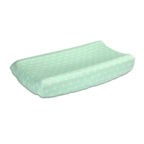 The Peanut Shell Arrows Changing Pad Cover in Mint