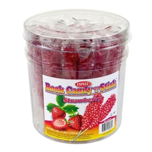 ESPEEZ Strawberry Rock Candy Sticks - 12oz