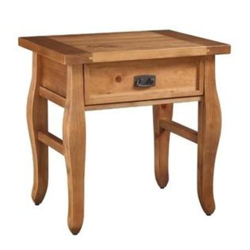 Linon Home Dcor 76057ANT01U Santa Fe End Table Antique Finish