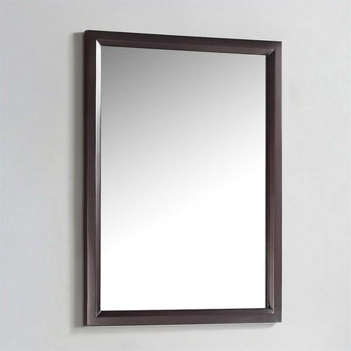 Simpli Home Urban Loft Bath Vanity Mirror in Dark Espresso Brown