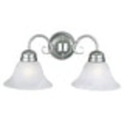 Design House 511600 Millbridge 2-Light Wall Sconce, Satin Nickel