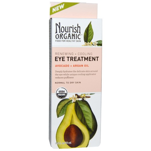 Nourish Organic Eye Treatment Avocado + Argan Oil -- 0.5 fl oz