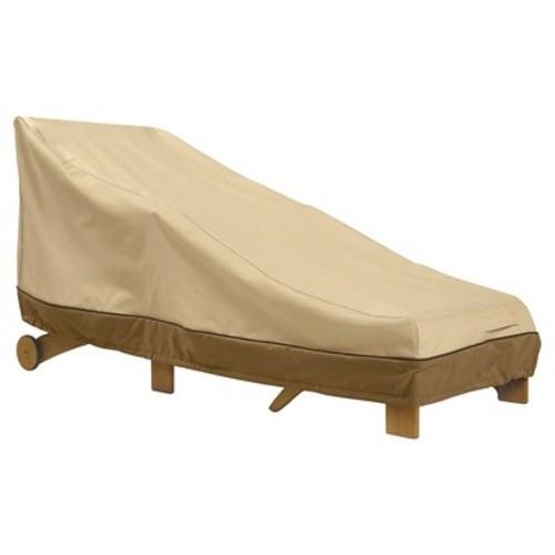 Veranda Patio Chaise Lounge Cover Large - Light Pebble - Classic Accessories