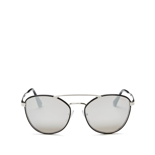PRADA Cinema Evolution Mirrored Square Sunglasses, 55Mm