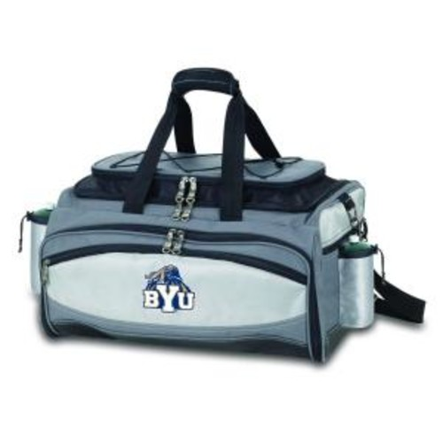 Picnic Time BYU Cougars - Vulcan Portable Propane Grill and Cooler Tote Kit with Digital Logo