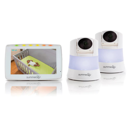 Summer Infant WIDE VIEW 2.0 DUO Digital Color Video Baby Monitor Set [2 Camera System]