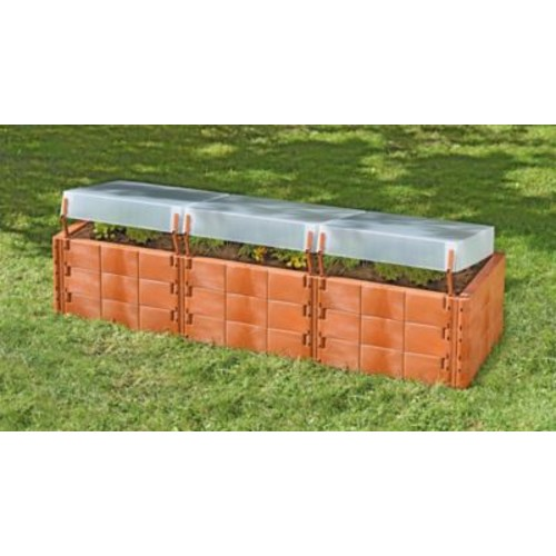 Juwel Triple Box 2 ft. x 6.25 ft. Polycarbonate Raised Garden Planter